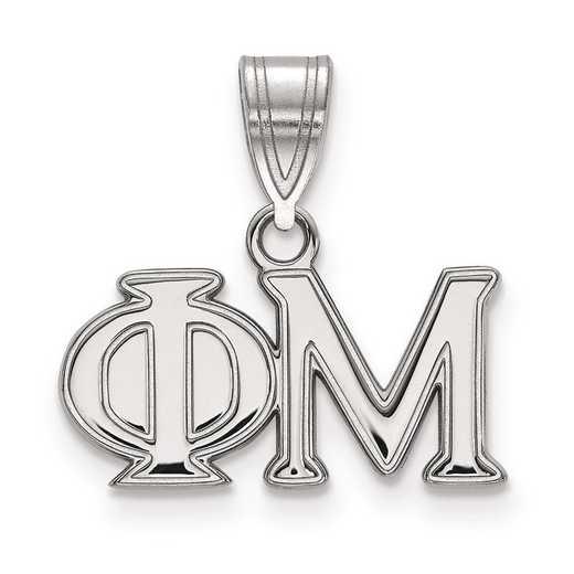 SS003PHM: Sterling Silver LogoArt Phi Mu Medium Pendant