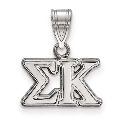 SS003SKP: Sterling Silver LogoArt Sigma Kappa Medium Pendant