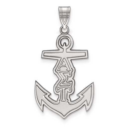 SS036ALS: Sterling Silver LogoArt Alpha Sigma Tau Medium Pendant