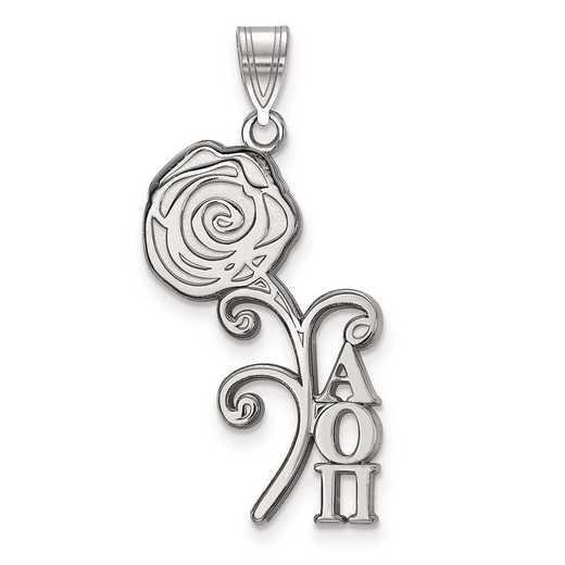 SS036AOP: Sterling Silver LogoArt Alpha Omicron Pi Medium Pendant