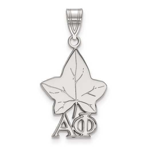 SS036APH: Sterling Silver LogoArt Alpha Phi Medium Pendant