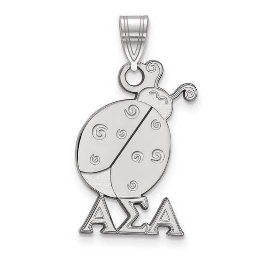 SS036ASI: Sterling Silver LogoArt Alpha Sigma Alpha Medium Pendant