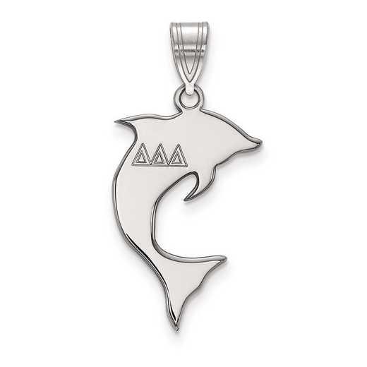 SS036DDD: Sterling Silver LogoArt Delta Delta Delta Medium Pendant