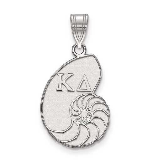 SS036KD: Sterling Silver LogoArt Kappa Delta Medium Pendant
