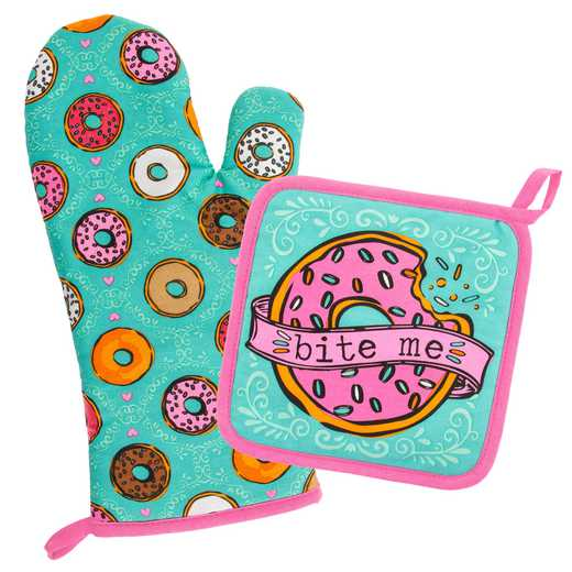 WT204867: OVEN MITT & POT HOLDER DONUT