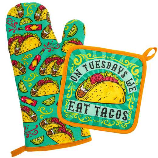 WT204872: OVEN MITT & POT HOLDER TACOS