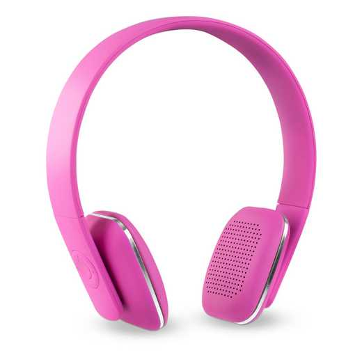 ITHWB-700-PK: IT Wireless BT Headphones with Rubber Finish, Pink