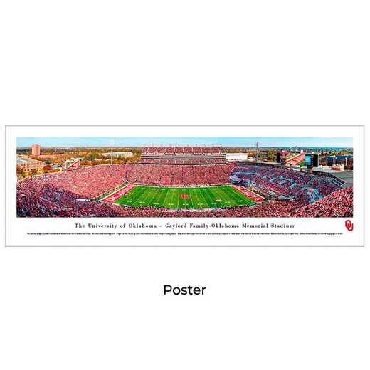 UOK8: Oklahoma Sooners Football #8 (50 YD) - Unframed Poster