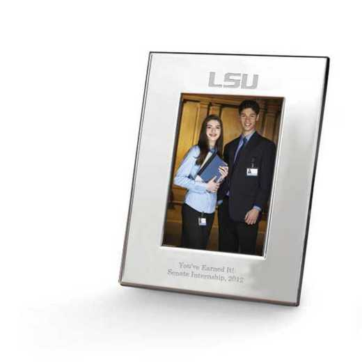 615789277705: LSU plshed Pewter  5x7  Frame by M.LaHart & Co.