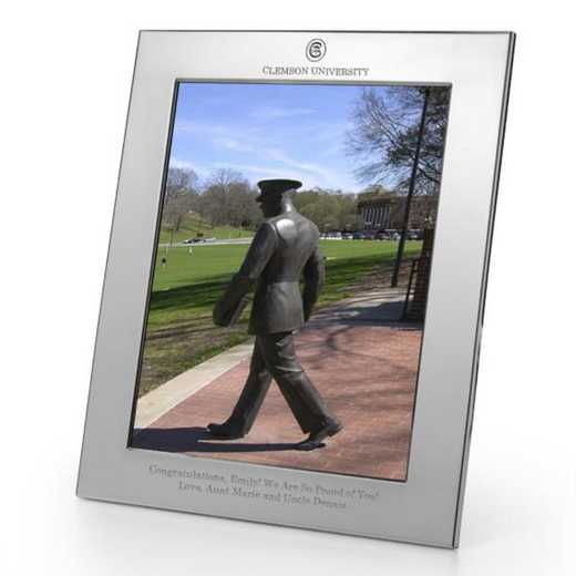 615789956433: Clemson plshed Pewter 8x10  Frame by M.LaHart & Co.