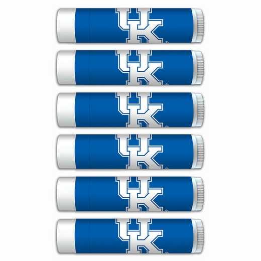 KY-UK-6PKSM: Kentucky Wildcats Premium Lip Balm 6-Pack with SPF 15- Beeswax- Coconut Oil- Aloe Vera