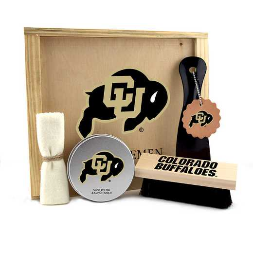 CO-UC-GK1: Colorado Buffaloes Gentlemen's Shoe Care Gift Box