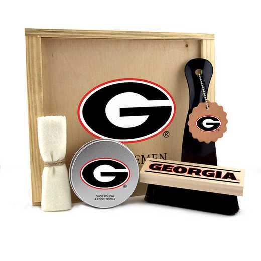 GA-UGA-GK1: Georgia Bulldogs Gentlemen's Shoe Care Gift Box