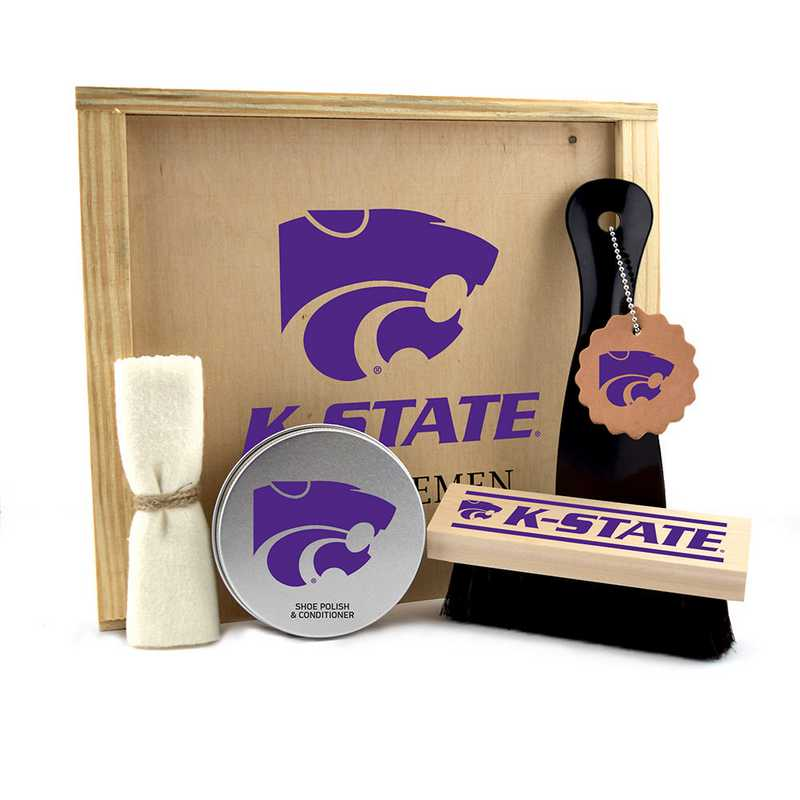 KS-KSU-GK1: Kansas State Wildcats Gentlemen's Shoe Care Gift Box