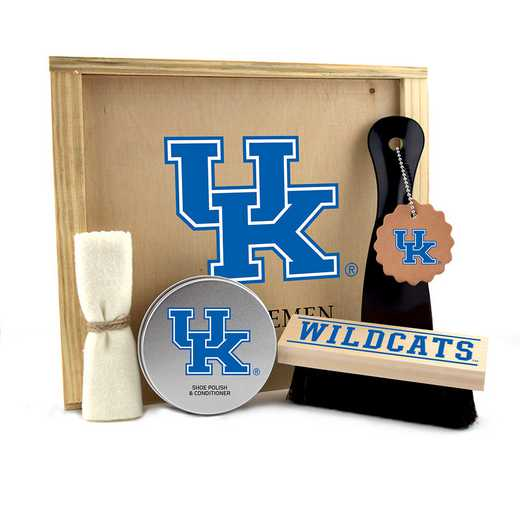 KY-UK-GK1: Kentucky Wildcats Gentlemen's Shoe Care Gift Box