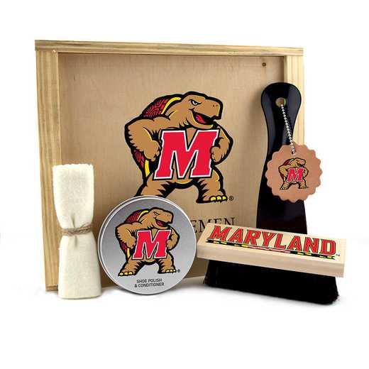 MD-UM-GK1: Maryland Terrapins Gentlemen's Shoe Care Gift Box