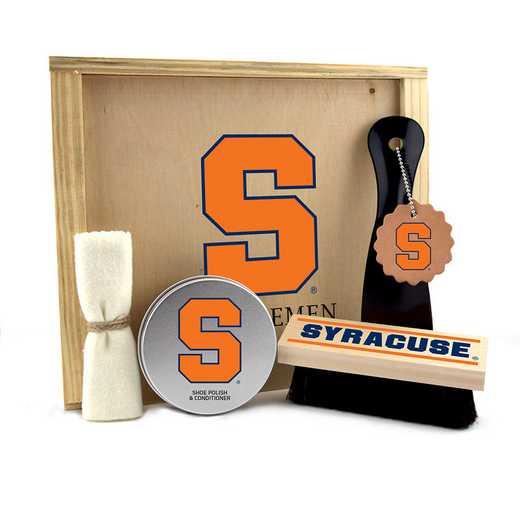 NY-SU-GK1: Syracuse Orange Gentlemen's Shoe Care Gift Box