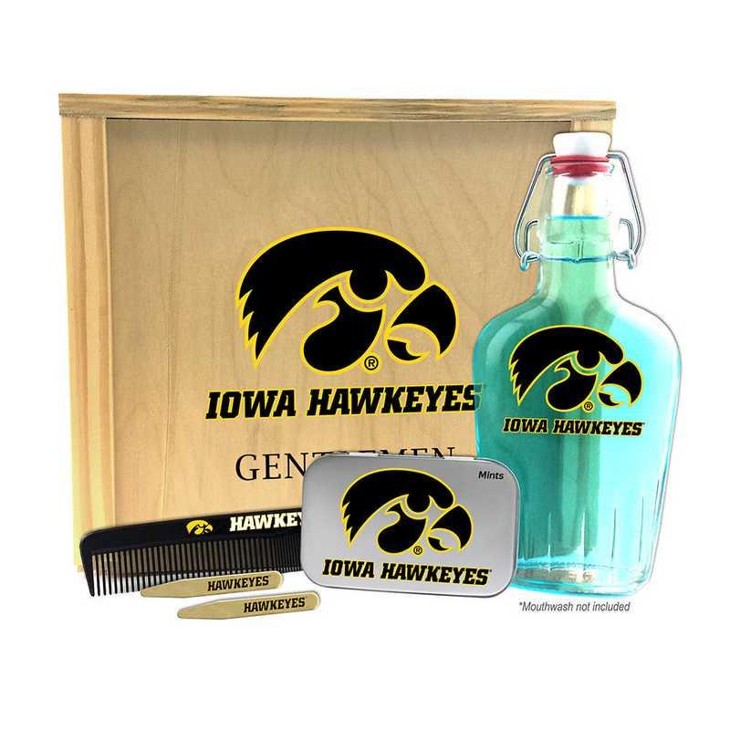 IA-UI-GK2: Iowa Hawkeyes Gentlemen's Toiletry Kit Keepsake