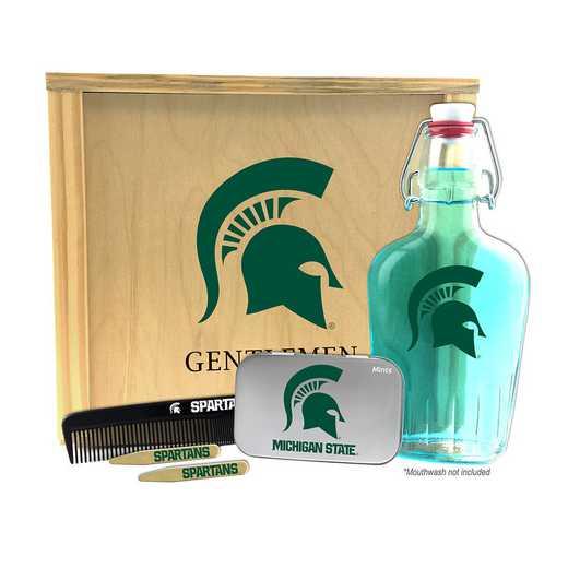 MI-MSU-GK2: Michigan State Spartans Gentlemen's Toiletry Kit Keepsake