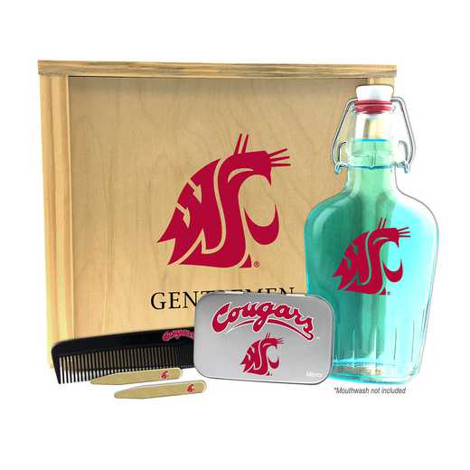 WA-WSU-GK2: Washington State Cougars Gentlemen's Toiletry Kit Keepsake
