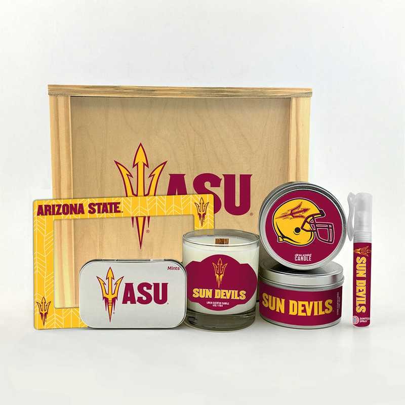 AZ-ASU-HWGK: Arizona State Sun Devils House-Warming Gift Box (6 Pieces)