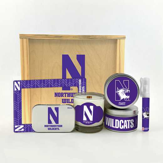 IL-NU-HWGK: Northwestern University Wildcats House-Warming Gift Box (6 Pieces)