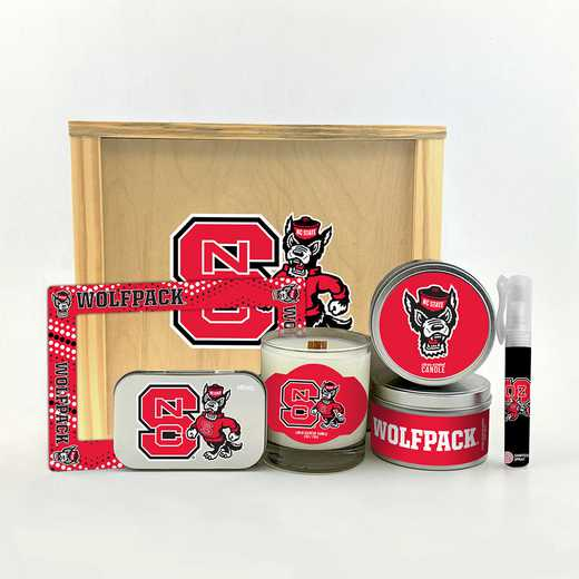 NC-NCS-HWGK: North Carolina State Wolfpack House-Warming Gift Box (6 Pieces)