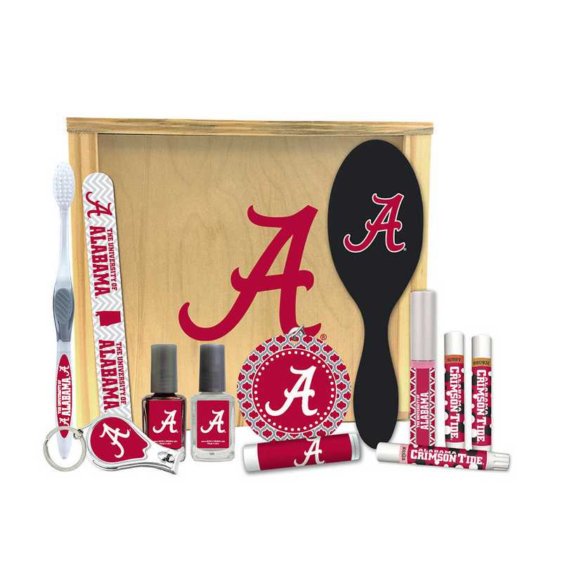 AL-UA-WBGK: Alabama Crimson Tide Women's Beauty Gift Box (12 Pieces)