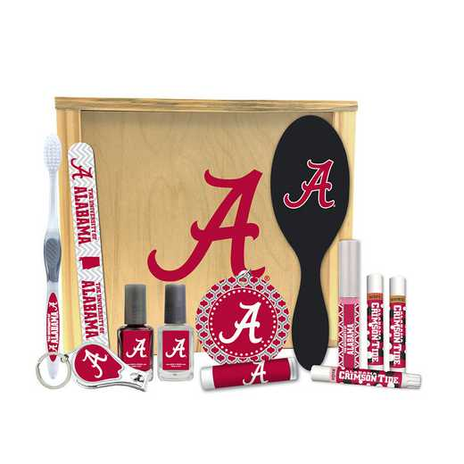 AL-UA-WBGK: Alabama Crimson Tide Women's Beauty Gift Box (12 Pieces)