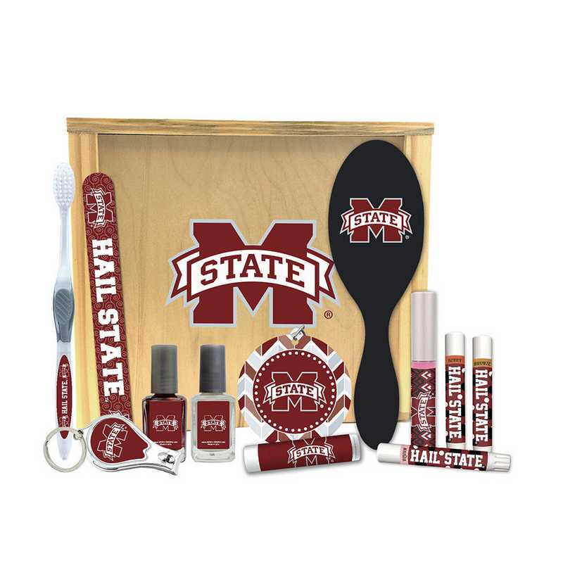 MS-MSU-WBGK: Mississippi State Bulldogs Women's Beauty Gift Box (12 Pieces)