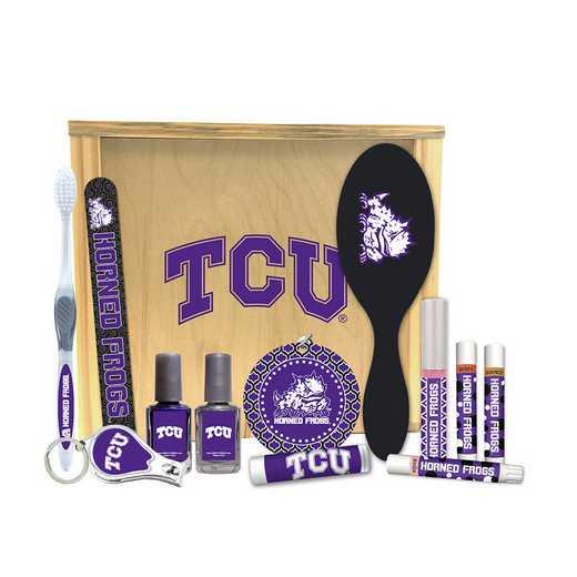 TX-TCU-WBGK: Texas Christian Horned Frogs Women's Beauty Gift Box (12 Pieces)
