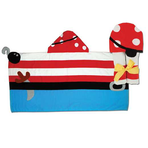 SJ100429: SJ HOODED TOWEL  PIRATE