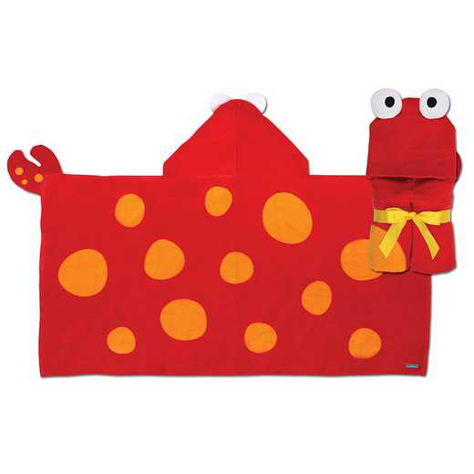 SJ100430: SJ HOODED TOWEL  CRAB (S11)