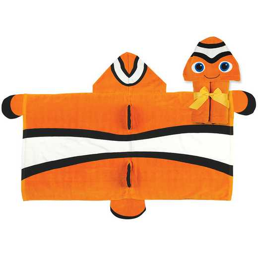 SJ100440A: SJ HOODED TOWEL  CLOWNFISH (S16)