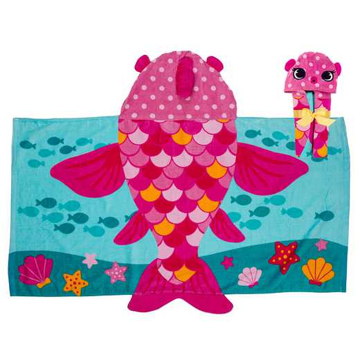 SJ100440B: SJ HOODED TOWEL  FISH (S18)