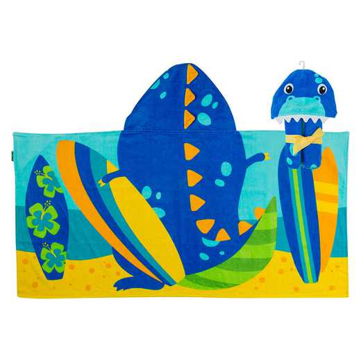 SJ100459: SJ HOODED TOWEL DINO (S19)