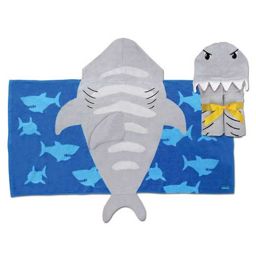 SJ100480: SJ HOODED TOWEL  SHARK (S11)
