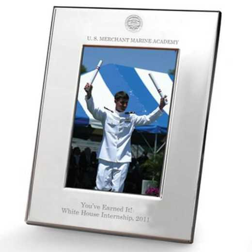615789387763: Merchant Marine Academy Polished Pewter 5x7 Picture Frame
