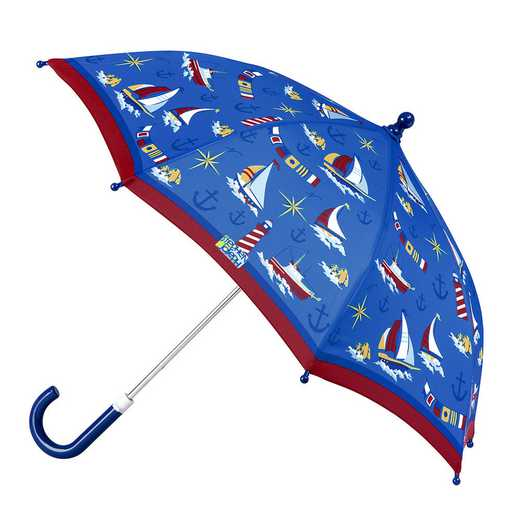 SJ870146Z: SJ  All Over Print NAUTICAL UMBRELLA