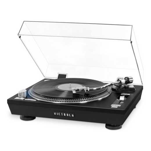 VPRO-2000-BLK: IT Victrola Pro Series USB Record Player, Black