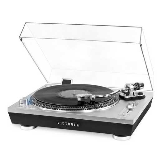 VPRO-2000-SLV: IT Victrola Pro Series USB Record Player, Silver