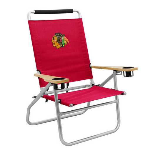 807-16B: LB Chicago Blackhawks Beach Chair