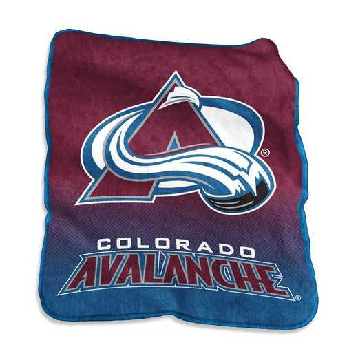 808-26A: LB Colorado Avalanche Raschel Throw