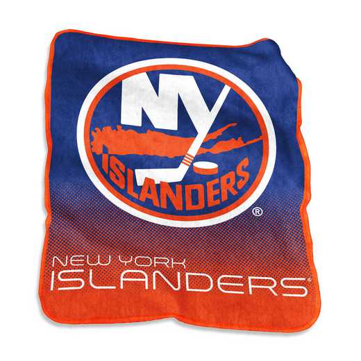 819-26A: LB NY Islanders Raschel Throw