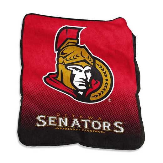 821-26A: LB Ottawa Senators Raschel Throw