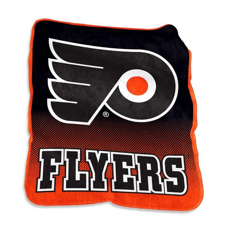 822-26A: LB Philadelphia Flyers Raschel Throw