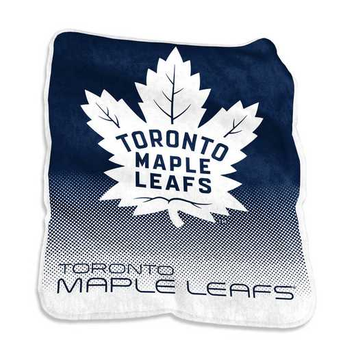828-26A: LB Toronto Maple Leafs Raschel Throw