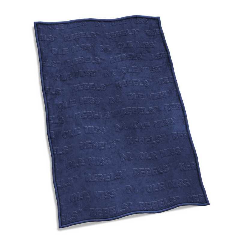 176-28V: LB Ole Miss Velvet Plush Blanket