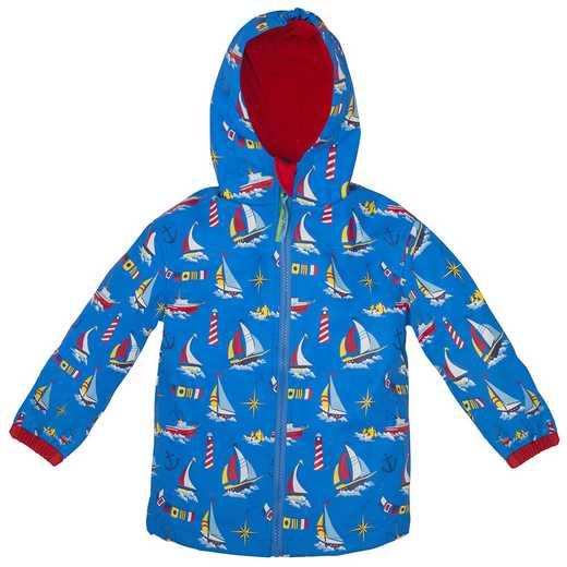 Stephen Joseph Nautical All-Over Print Raincoat