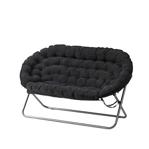 BUCK-XPAPSOFABLK: Papasan Dorm Sofa - Black